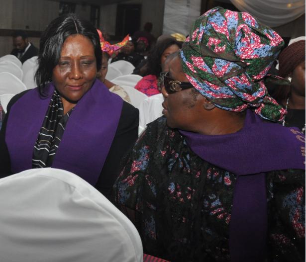Mrs Margaret Onyema-Orakwusi and WILAT President, Hajia Aisha Ali-Ibrahim.